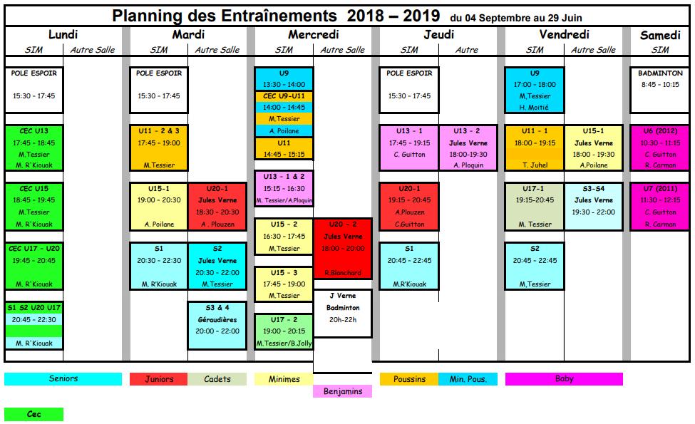 Planning 2018-2019